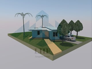 Fachada: Casas  por LHF Arquitetura