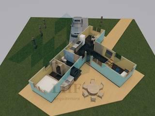 Vista Superior: Casas  por LHF Arquitetura