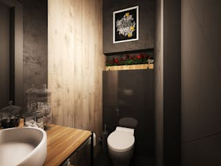 Industrial style bathroom by ARHITEKTO Industrial