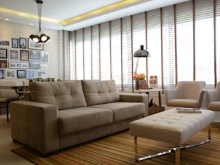 Apartamento Cavalhada: Salas de estar  por Juliana Baumhardt Arquitetura,Moderno