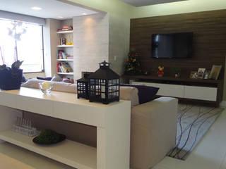 Apartamento Menino Deus: Salas de estar  por Juliana Baumhardt Arquitetura,Moderno