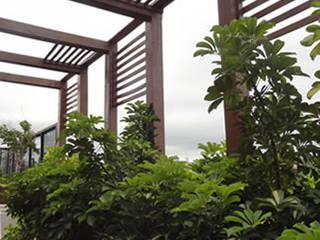 Bloco Z Arquitetura Balkon, Beranda & Teras Modern