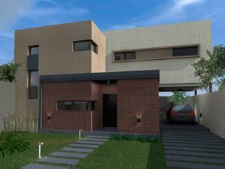 VIVIENDA UNIFAMILIAR  NM: Casas de estilo  por ESTUDIO RR,Moderno