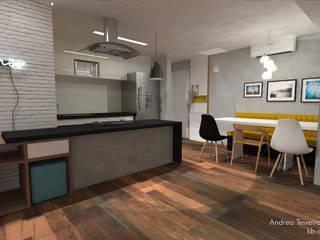 ap | perdizes: Salas de jantar  por kb | arqdesign,Moderno