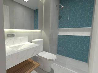 ap   perdizes Banheiros modernos por kb   arqdesign Moderno