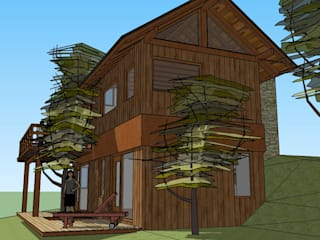 Paico Rustic style houses Wood