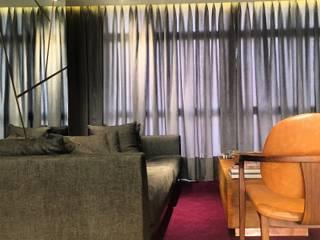 Jean Felix Arquitetura Modern living room Grey