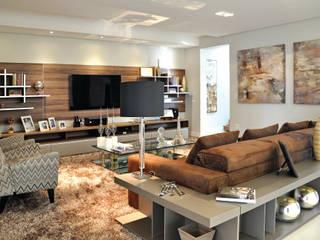 RESIDÊNCIA Salas de estar modernas por VOLF arquitetura & design Moderno