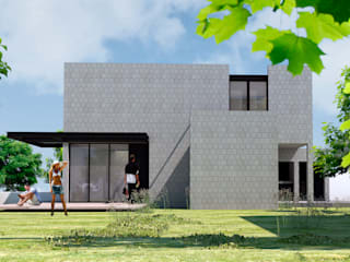 CASA SC: Casas de estilo  por FLA - Fernando Ludueña Arquitecto