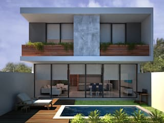 Art.chitecture, Taller de Arquitectura e Interiorismo 📍 Cancún, México. Modern Houses Wood Wood effect