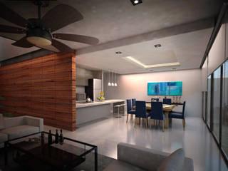 ห้องทานข้าว โดย Art.chitecture, Taller de Arquitectura e Interiorismo 📍 Cancún, México., โมเดิร์น