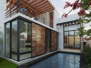 SENDEROS MAYAKOBA : Albercas de estilo  por Art.chitecture, Taller de Arquitectura e Interiorismo 📍 Cancún, México.