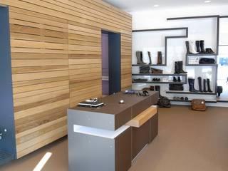 """Verbouwing schoenwinkel """"Sjieke Sjeun"""" Meerssen Moderne winkelruimten van gorissendeponti ontwerpers + makers Modern"""
