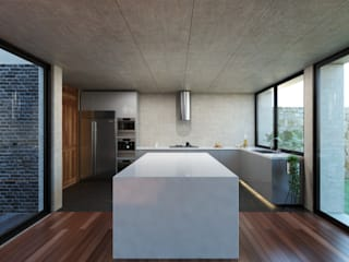 Cozinhas modernas por Studio de Arquitectura y Ciudad Moderno