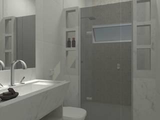 Banheiro para Casal por TENDENCIA ARQUITETURA E DESIGN DE INTERIORES Clássico