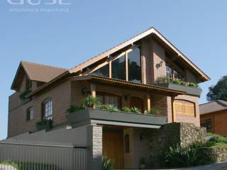 Residencia Unifamiliar Casas rústicas por duse arquitetura.engenharia Rústico