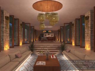 Casa Awesome Salones minimalistas de Guillermo Reyes Torres Arquitectura Minimalista
