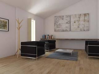 Projeto de reabilitação e ampliação Salas de estar modernas por atelier mais - arquitetura e design Moderno