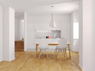 Projeto de reabilitação e ampliação Cozinhas modernas por atelier mais - arquitetura e design Moderno