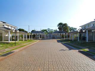 RESIDENCIAL PORTAL DOS PRÍNCIPES (LIMEIRA - SP) Lojas & Imóveis comerciais campestres por VOLF arquitetura & design Campestre
