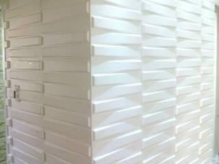 Placa 3D Board, fabricada em fibra de Bambu.: Salas de estar  por Violeta Decoraçao e Design