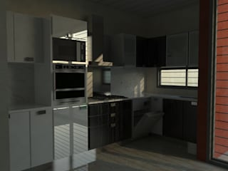 Interiores - 3D: Cocinas de estilo  por Lisandro Fiori ARQUITECTO