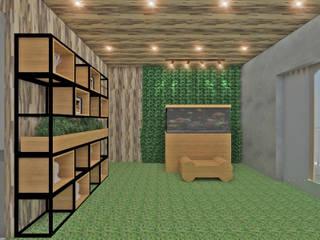 Studio Diego Duracenski Interiores Гостиная в стиле модерн Твердая древесина Эффект древесины