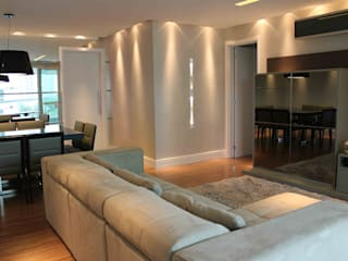 APARTAMENTO | CURITIBA | PARANÁ Salas de estar modernas por Graf Arquitetura & Interiores Moderno