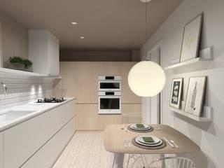 CJ / Kitchen Cocinas de estilo escandinavo de Coronado Estudio Escandinavo