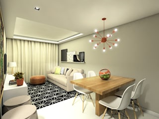 APARTAMENTO | LB Salas de jantar modernas por Beiral Arquitetura e Urbanismo Moderno