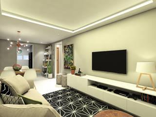 APARTAMENTO | LB Salas de estar modernas por Beiral Arquitetura e Urbanismo Moderno