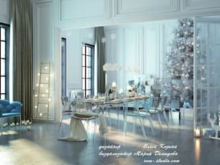 Лофт гостиная - Новогоднее украшение: Гостиная в . Автор – Ольга Козина -  дизайнер интерьера