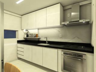 APARTAMENTO | JH: Cozinhas  por Beiral Arquitetura e Urbanismo