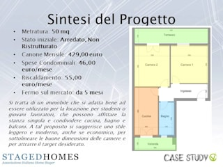 Stesso Piano - Home Staging Appartamento per locazione studentesca a Torino Ingresso, Corridoio & Scale in stile classico di Paola Boati Architetto Classico