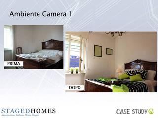 Stesso Piano - Home Staging Appartamento per locazione studentesca a Torino Camera da letto in stile classico di Paola Boati Architetto Classico