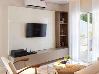 Lodo Barana Arquitetura e Interiores 现代客厅設計點子、靈感 & 圖片 MDF Beige