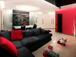 living: Soggiorno in stile in stile Minimalista di Davide Coluzzi DAZ architect