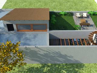 Arraso House Varandas, alpendres e terraços modernos por Pereira Cunha Arquitetos Moderno