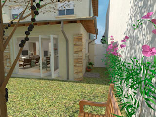 Residencia DW Casas ecléticas por Pereira Cunha Arquitetos Eclético