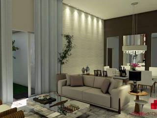 casa BG: Salas de estar  por Mais Arquitetura 34