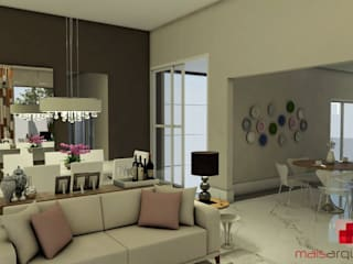 Klassische Wohnzimmer von Mais Arquitetura 34 Klassisch