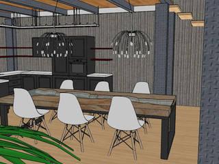 LOFT A MILANO Sala da pranzo in stile industriale di INTERNO 75 Industrial