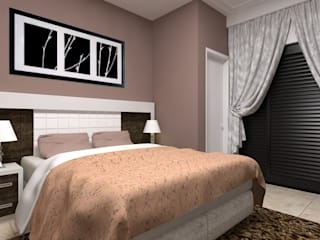 predio residencial com 5 pavimentos Quartos clássicos por Construtora Lima Projetos Clássico