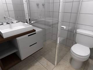 predio residencial com 5 pavimentos Banheiros clássicos por Construtora Lima Projetos Clássico