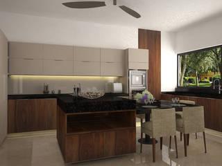 Cocina: Cocinas de estilo moderno por Vau Studio