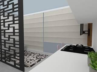 Apartamento Studio em São Paulo: Cozinhas  por Arquitetura Pâmela Caminski