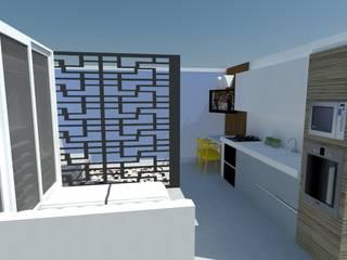 Apartamento Studio em São Paulo: Quartos  por Arquitetura Pâmela Caminski