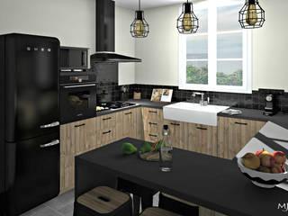 Kitchen by MJ Intérieurs, Rustic Wood Wood effect