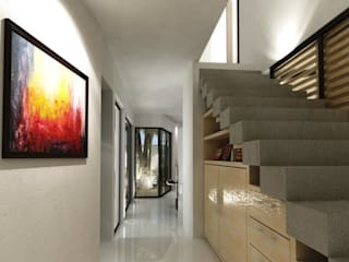 FRACTAL CORP Arquitectura Modern Corridor, Hallway and Staircase