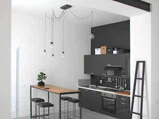 CHIARA MARCHIONNI ARCHITECT Industrial style kitchen Engineered Wood Grey